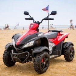 Электроквадроцикл Dongma ATV DMD-268A красный (колеса резина, многорычажная подвеска, музыка)