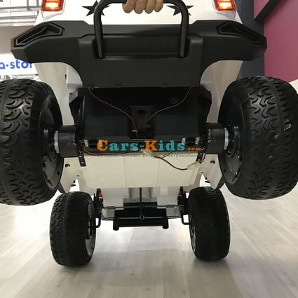 Электромобиль Jeep Wrangler 4WD WXE1688 (2х местный, полный привод, колеса резина, сиденье кожа, пульт, музыка)