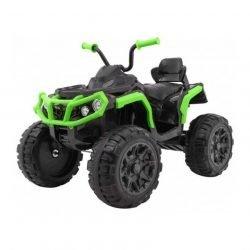 Электроквадроцикл Grizzly 2WD BDM0906 черно-зеленый (колеса резина, сиденье кожа, пульт, музыка)